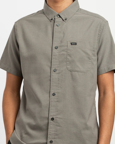 Short Sleeve Oxford Stretch - Ash Grey
