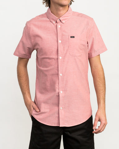 Short Sleeve Oxford Stretch - Pompei Red