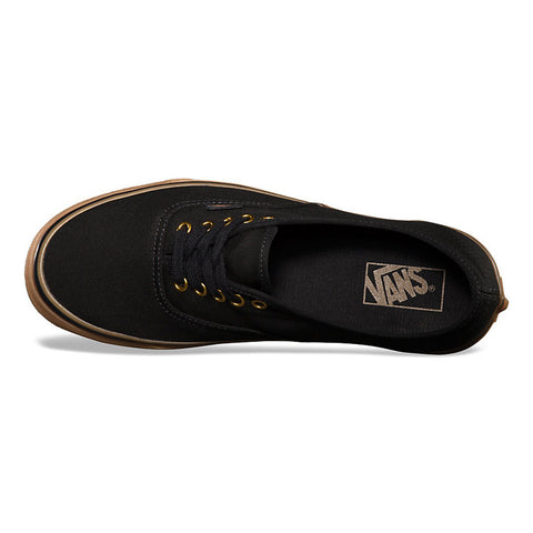 Authentic Canvas Gumsole Black