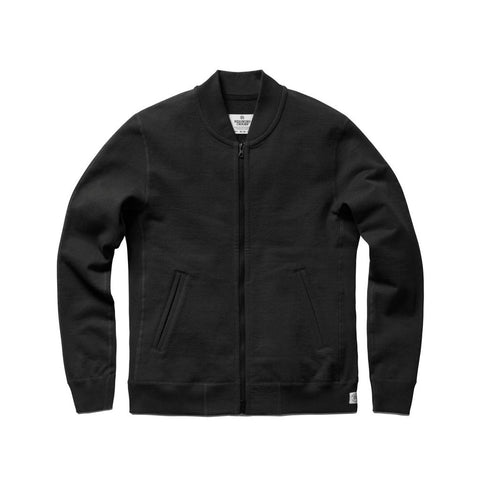 Varsity Jacket Black Heavyweight Terry