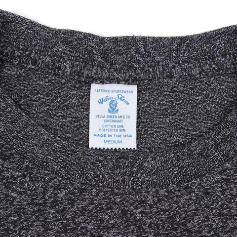 50/50 Circular Knit Pocket Tee - Heather Black