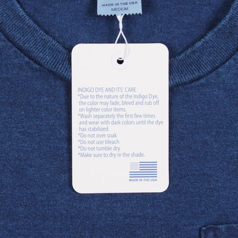 Circular Knit Pocket Tee Blue Indigo