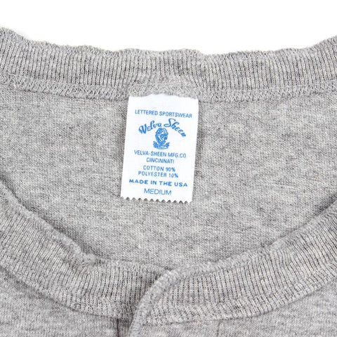 Circular Knit Henley Heather Grey