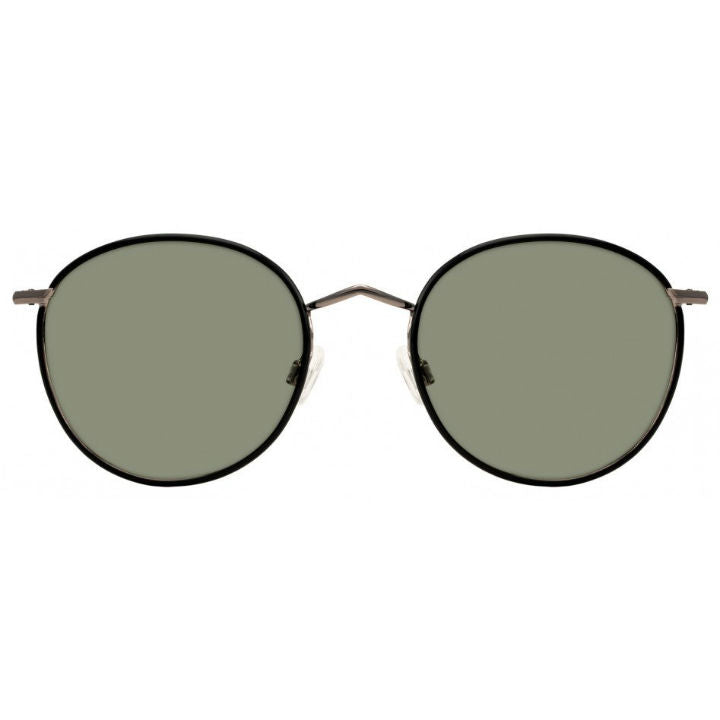Zev Sunglasses Black Gunmetal Green