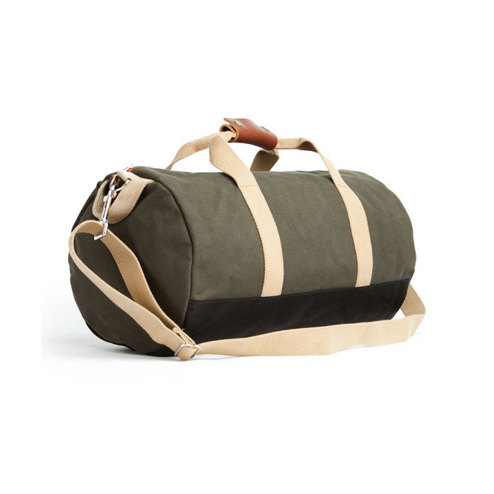 Work Hard Play Hard Duffle Army Green
