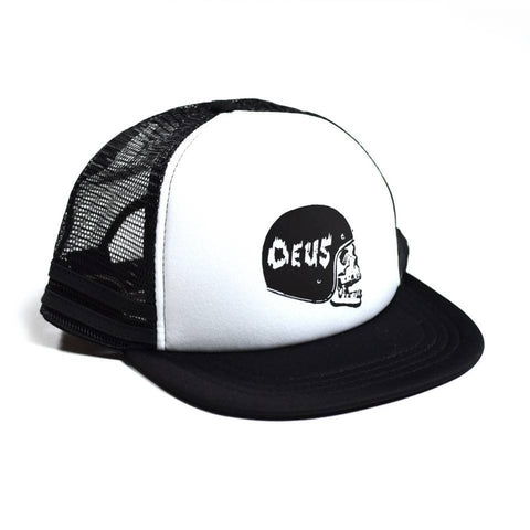 Skull Trucker Hat Black