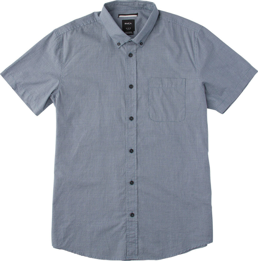 Short Sleeve That'll Do Micro Check Inmate Blue