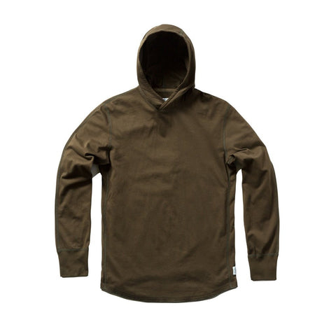 Ringspun Jersey Pullover Hoodie Olive