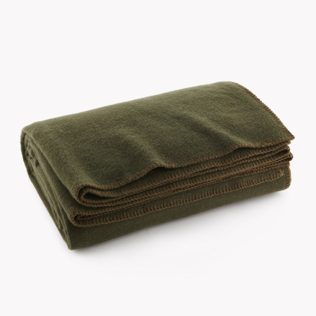 Pure & Simple Wool Blanket (Twin) Olive