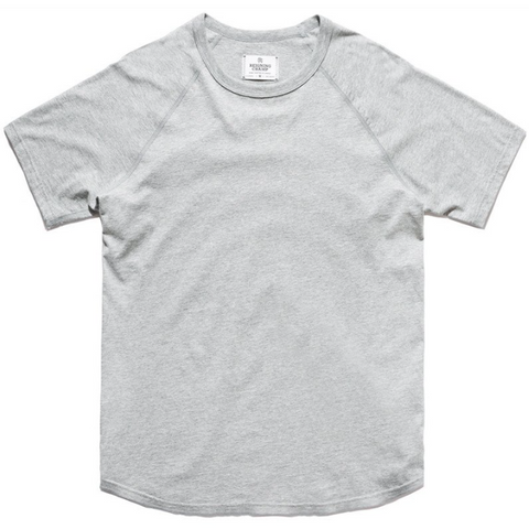 Ringspun Jersey Raglan Tee Heather Grey