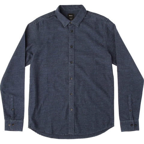 Vine Long Sleeve Flannel Shirt Federal Blue