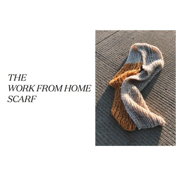 The #WFH Duo Scarf Pattern - isobel & cleo