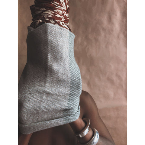 The Union Menswear Cowl in Flannel Grey/Moss/Mushroom - isobel & cleo