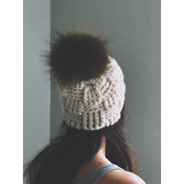 The Crochet Pom Pom Cap - isobel & cleo