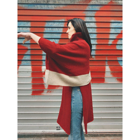 The Shortie Colorblock Poncho - isobel & cleo