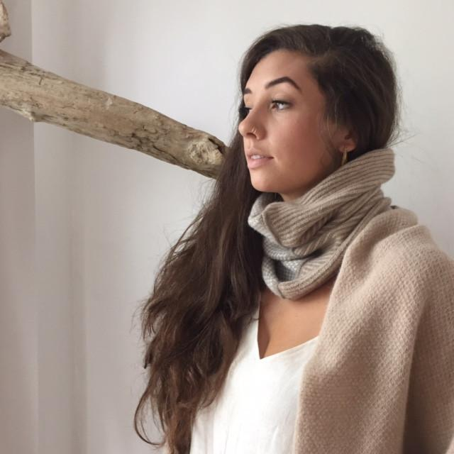 The Union Menswear Cowl in Camel/Flannel/Natural - isobel & cleo