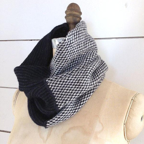 The Union Menswear Cowl in Charcoal/Natural/Black - isobel & cleo