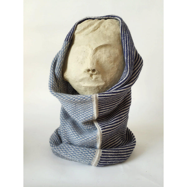 The Union Menswear Cowl in Natural/Wharf/Geneva - isobel & cleo
