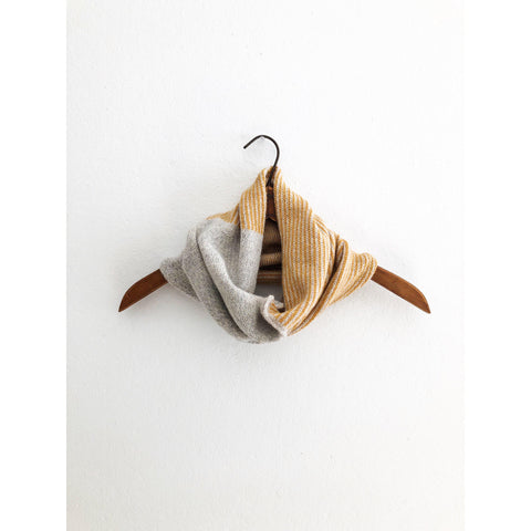 The Union Menswear Cowl Natural/Silver/Mango - isobel & cleo