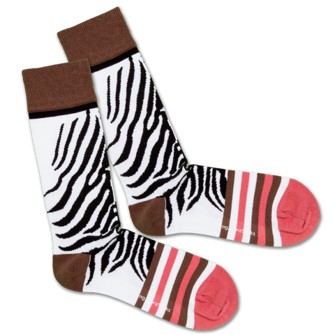 Dilly Socks X Safari Young Zebra