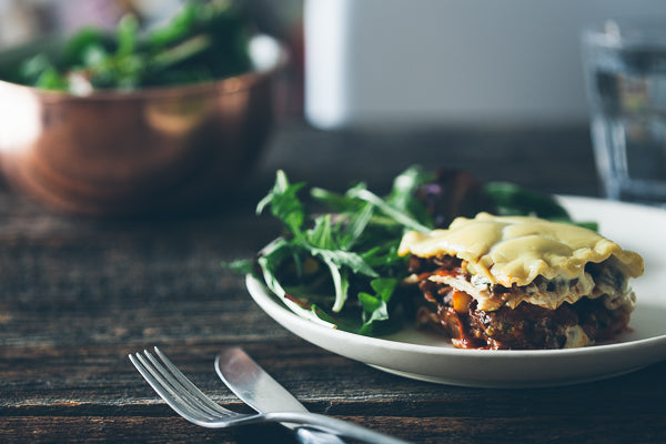 Vegetable Lasagna with Roasted Mushrooms, Zucchini and Cashew Cheese (Limited Offer!)