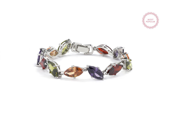 Crystal Spring Leaves Statement Bracelet - Cielle London for unique fashion accessories and jewellery for Christmas