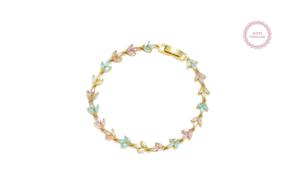 Pastel Spring Leaves Bracelets - Cielle London for unique fashion accessories and jewellery for Christmas
