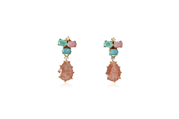 Pastel Stone Teardrop Earrings - Cielle London for unique fashion accessories and jewellery for Christmas