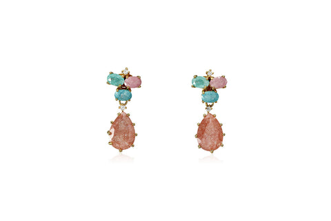 Pastel Stone Teardrop Earrings