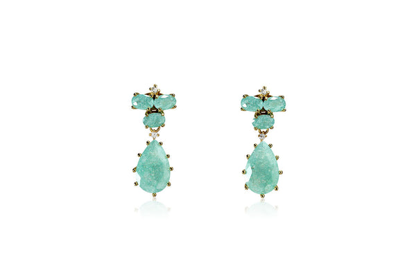 Pastel Stone Teardrop Earrings - Cielle London Black Friday and Cyber Monday - 1