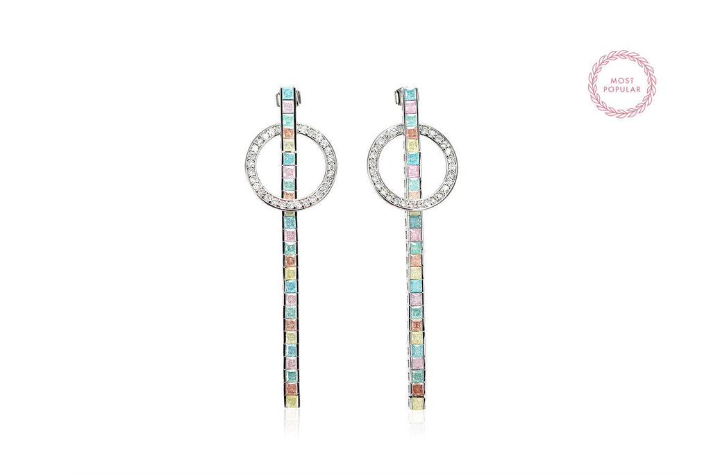 Geometric Drop Earrings - Cielle London for unique fashion accessories and jewellery for Christmas