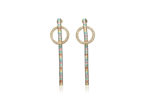 Geometric Drop Earrings - Cielle London Black Friday and Cyber Monday - 1