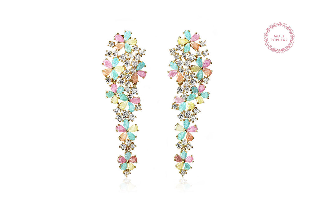 Fleur de Cielle Earrings - Cielle London for unique fashion accessories and jewellery for Christmas