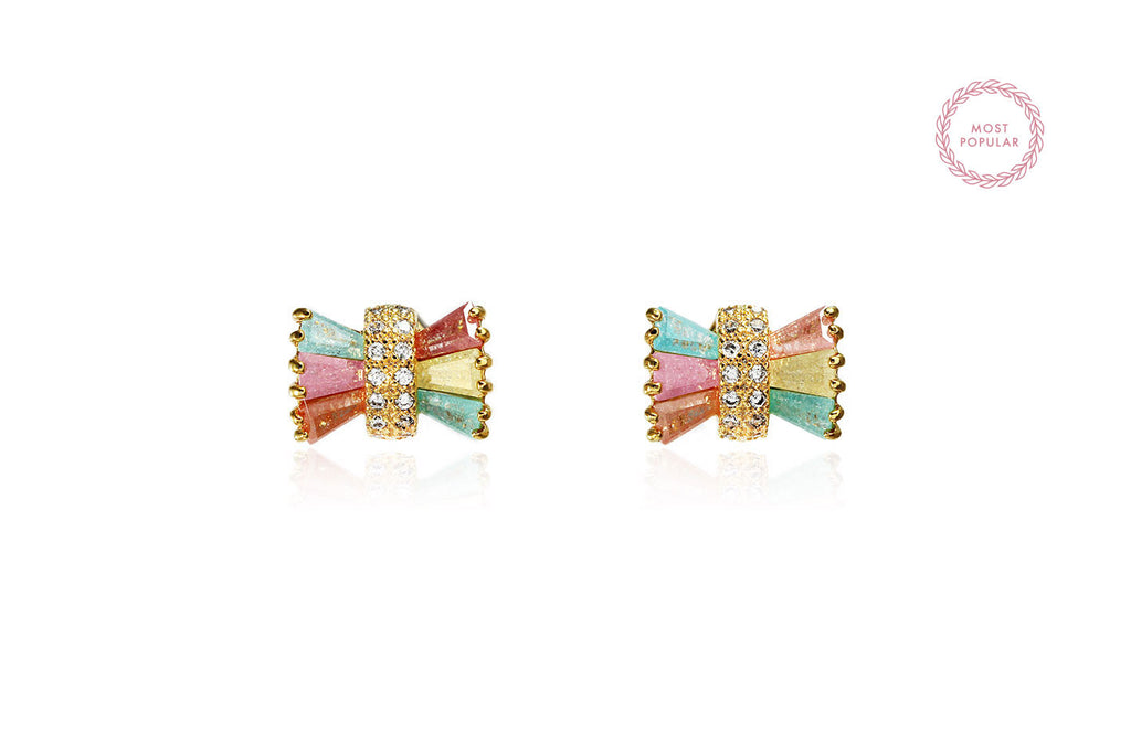 Colourful Bow Earrings - Cielle London for unique fashion accessories and jewellery for Christmas