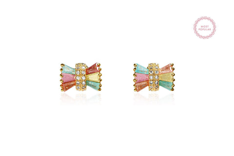 Colourful Bow Earrings