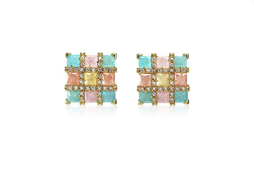 Colourful Square Earrings - Cielle London for unique fashion accessories and jewellery for Christmas