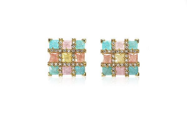 Colourful Square Earrings - Cielle London Black Friday and Cyber Monday - 1