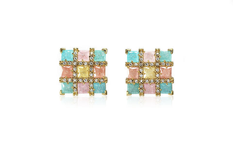 Colourful Square Earrings