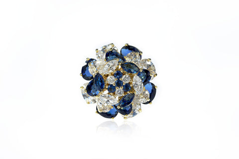 Fleur de Cielle Spinning Flower Cocktail Ring