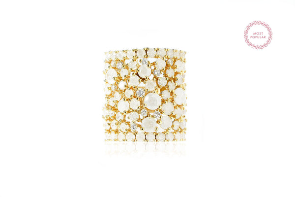 Spring Snow Statement Cocktail Ring - Cielle London for unique fashion accessories and jewellery for Christmas