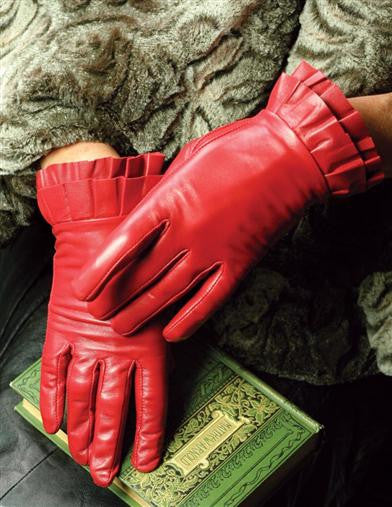 Red Leather Gloves - Bear Essentials Interiors