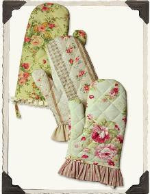 Primrose Oven Mitts (Set) - Bear Essentials Interiors