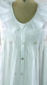 French Knotted Roses Smocked Nightgown - Bear Essentials Interiors