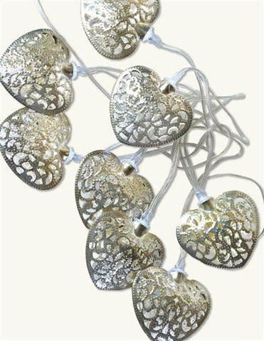 Filigree Hearts LED Light Strand - Bear Essentials Interiors