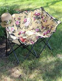 Chintz Double Lawn Chair - Bear Essentials Interiors