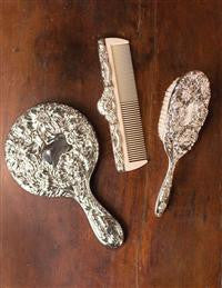 Dresser Set, comb, brush and mirror