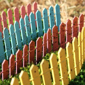 Colorful Picket Fence - Bear Essentials Interiors