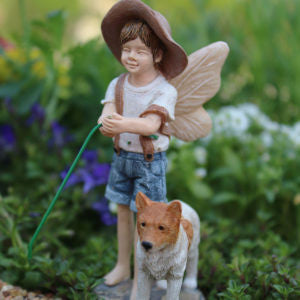 Fairy Oliver w/dog - Bear Essentials Interiors