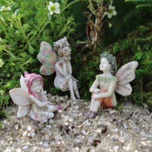 Sitting Fairies assortment of 3
