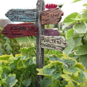 Fairy Street Sign (W/ 2″ Pick)